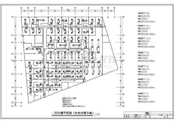 星级大酒店空调系统cad施工设计图案例-图1