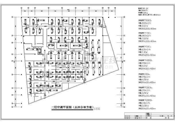 星级大酒店空调系统cad施工设计图案例-图3