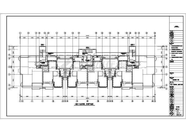某商住楼及车库采暖通风CAD施工图纸-图1