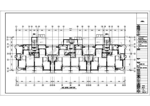 某商住楼及车库采暖通风CAD施工图纸-图2