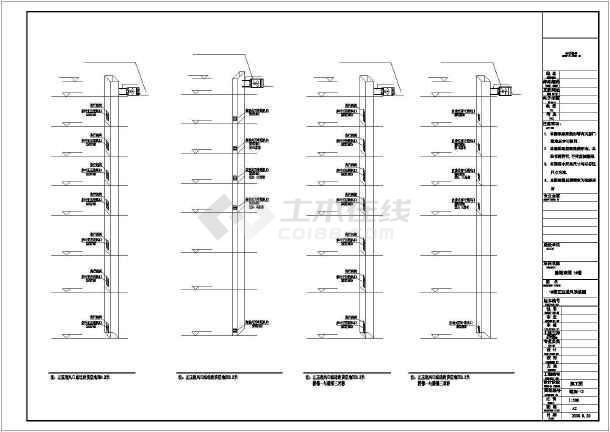 某商住楼及车库采暖通风CAD施工图纸-图3