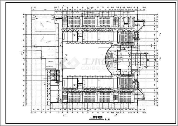 某地学校教学楼全套建筑施工图纸(标注详细)-图2