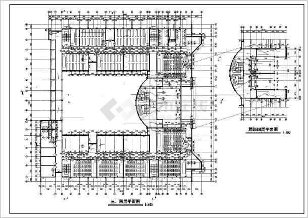 某地学校教学楼全套建筑施工图纸(标注详细)-图3