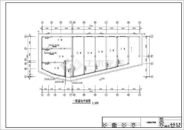 某小型综合楼电气设计方案及施工全套CAD详图-图2