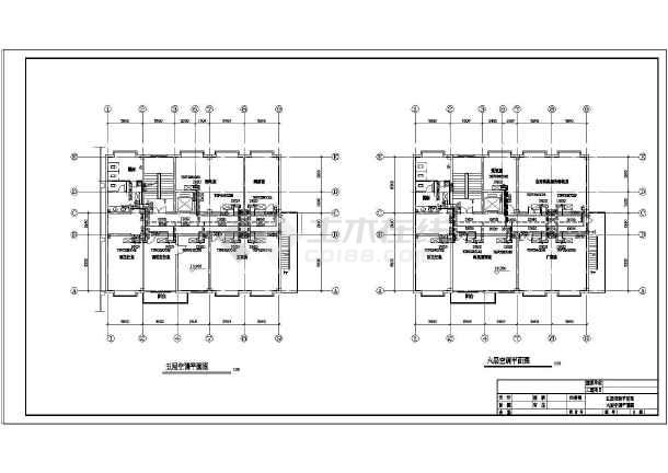 某招待所空气源热泵空调设计cad图-图2