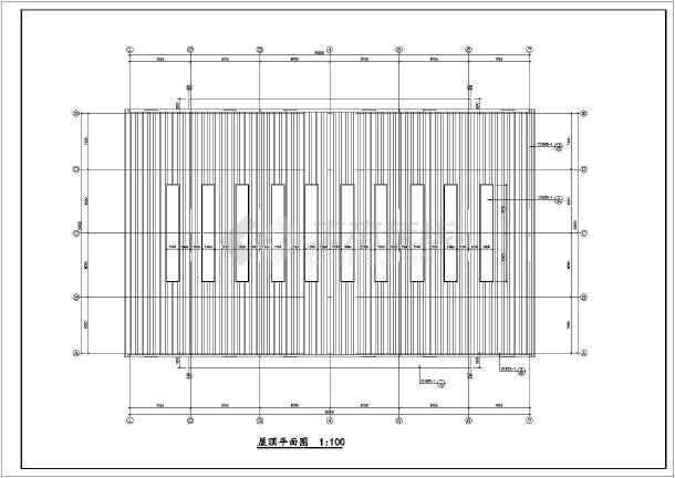 某城市30M跨厂房建筑结构图纸(节点详细)-图2
