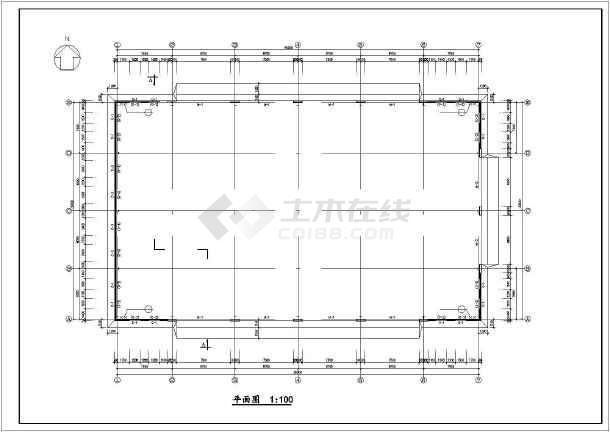 某城市30M跨厂房建筑结构图纸(节点详细)-图3
