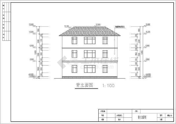 某3层别墅建筑详细施工CAD图纸-图1