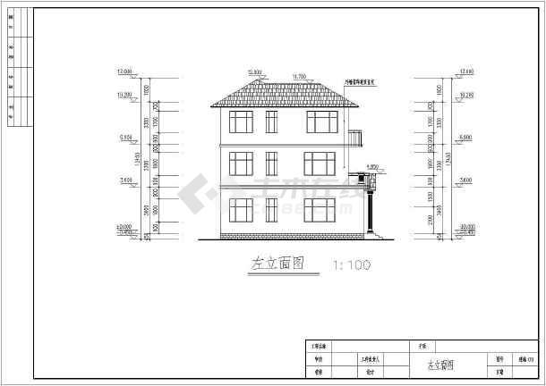 某3层别墅建筑详细施工CAD图纸-图2