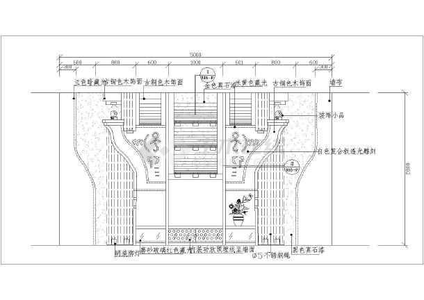 某地区大型夜总会VIP房立面装修图-图2