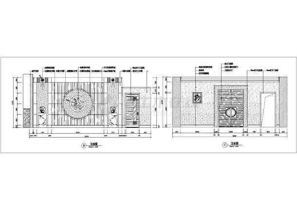 某地区大型中式餐厅装修cad施工图-图1