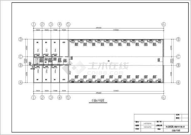 某地区火锅店中央空调设计cad图-图1