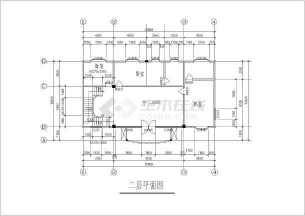 某多层独栋别墅建筑结构设计CAD图-图2