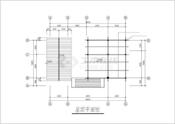 某多层独栋别墅建筑结构设计CAD图-图3