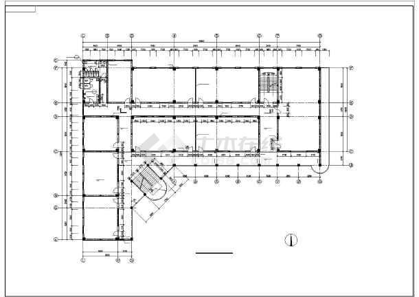 某学校教学楼全套设计图纸(共9张)-图2