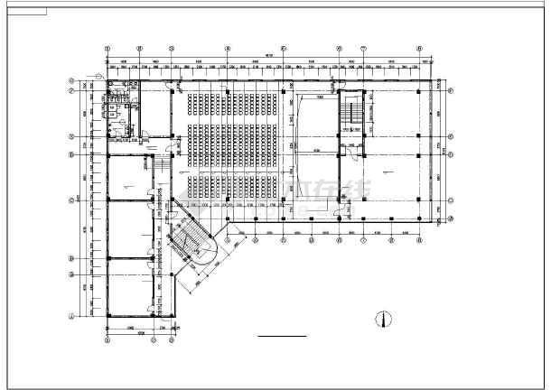 某学校教学楼全套设计图纸(共9张)-图3