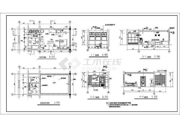 某地区大型豪华标准间全套建筑施工设计图-图1