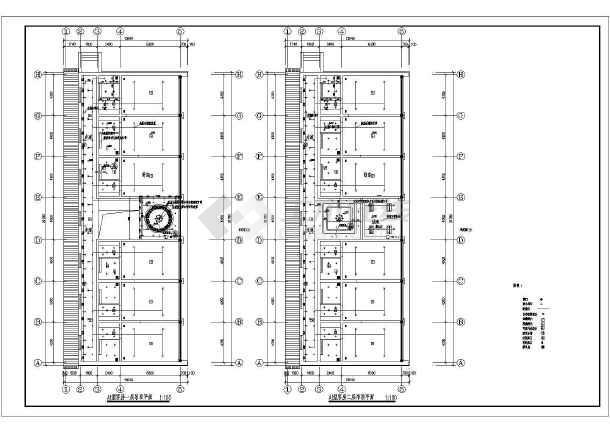 某地区大型豪华标准间全套建筑施工设计图-图2