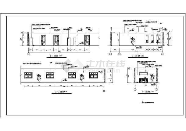 某地区大型豪华标准间全套建筑施工设计图-图3