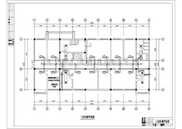 某燃气厂空调平面设计cad施工图-图1