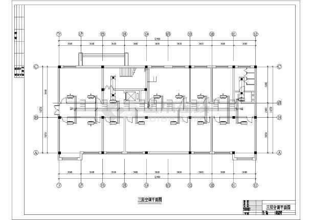 某燃气厂空调平面设计cad施工图-图2