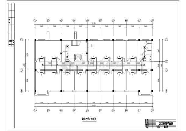 某燃气厂空调平面设计cad施工图-图3