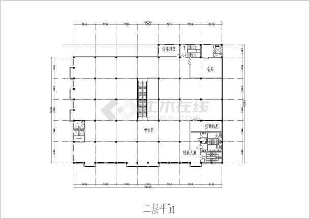 某地区大型超市设计方案图纸(带效果图)-图1