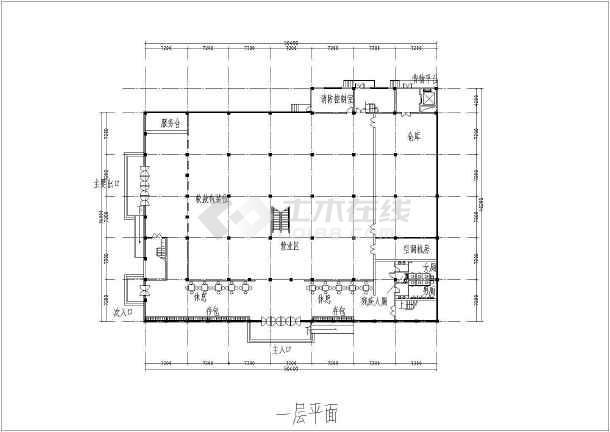某地区大型超市设计方案图纸(带效果图)-图3