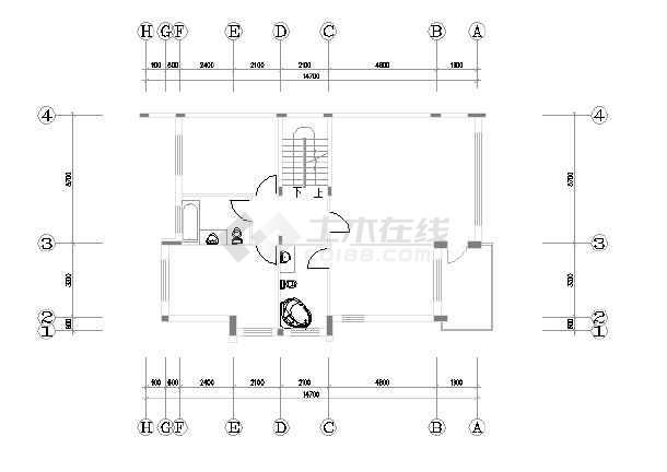 某市精品别墅装修设计图纸(全套)-图1
