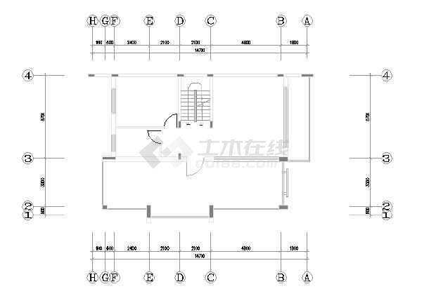 某市精品别墅装修设计图纸(全套)-图2