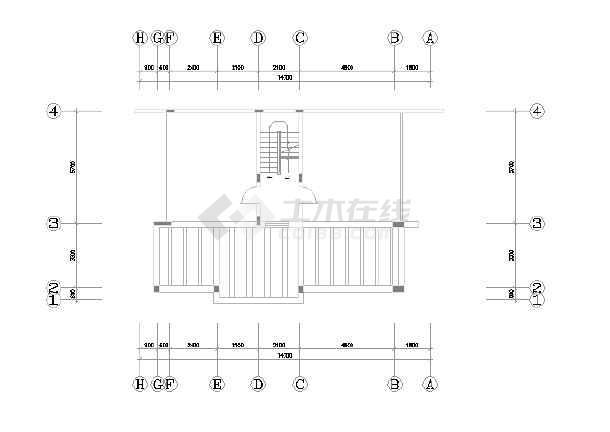 某市精品别墅装修设计图纸(全套)-图3
