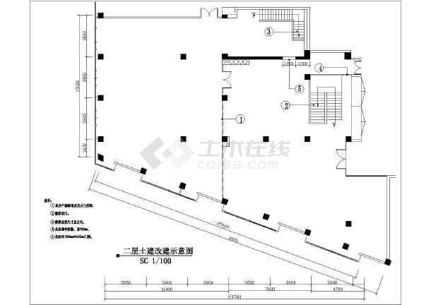 某地区大型两层餐厅装修图(共16张)-图1