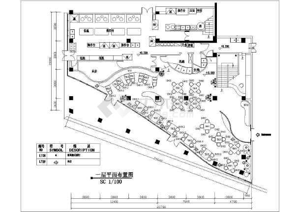 某地区大型两层餐厅装修图(共16张)-图2