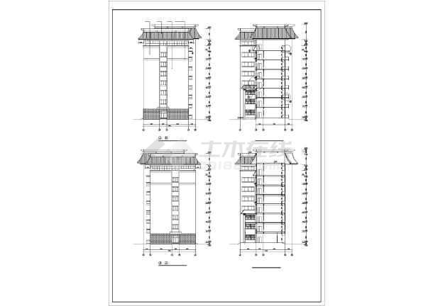 某学校教学楼设计方案图纸(共12张)-图2