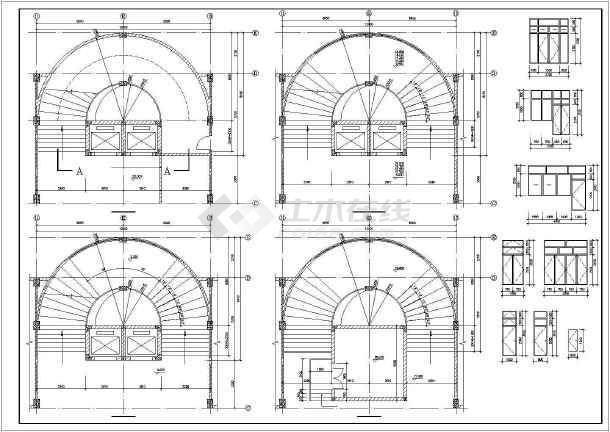 某学校教学楼设计方案图纸(共12张)-图3