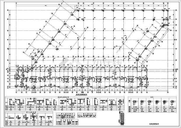 短肢剪力墙小高层全套结构CAD图纸-图1