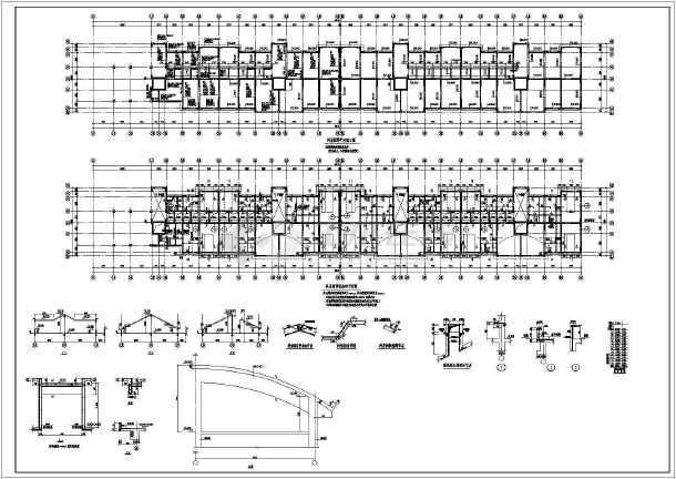 短肢剪力墙小高层全套结构CAD图纸-图2