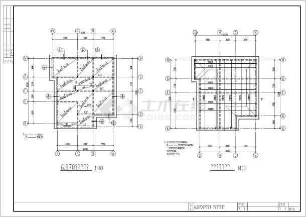 某别墅结构建筑cad施工设计图纸-图2