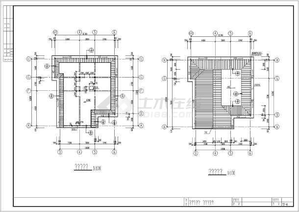 某别墅结构建筑cad施工设计图纸-图3