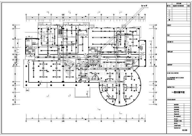 某六层机房空调平面设计施工cad图-图2