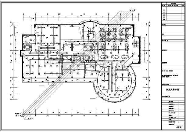 某六层机房空调平面设计施工cad图-图3