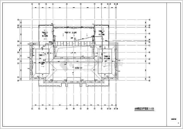 某地行政楼沙龙365CAD设计施工图-图1