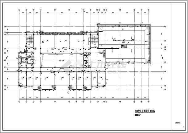 某地行政楼沙龙365CAD设计施工图-图2