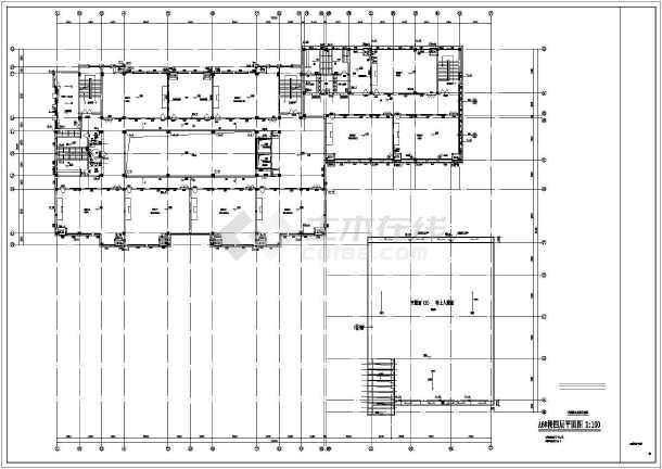 某地行政楼沙龙365CAD设计施工图-图3
