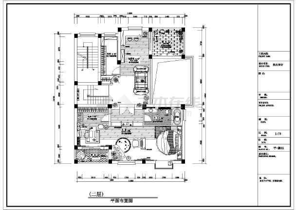 某地区小型双层精装别墅建筑图(共2张)-图1