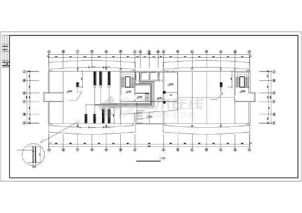 某单位办公楼VRV空调设计施工cad图-图2