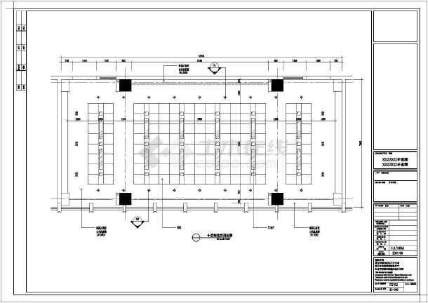 某地区大型阅览室装修cad施工图-图1