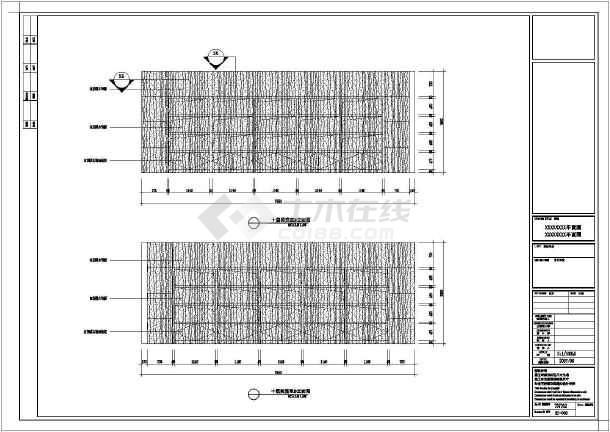 某地区大型阅览室装修cad施工图-图2