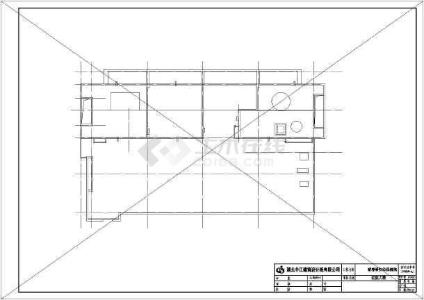 某医院住院部电路图全套施工以及设计CAD图-图1