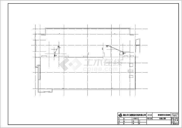 某医院住院部电路图全套施工以及设计CAD图-图2